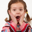Stock Photo: Portrait of surprised little girl