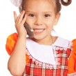 Royalty-Free Stock Photo: Little girl speaks on phone