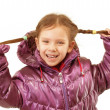 Portrait of little girl in winter jacket — Stock Photo