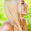 Portrait of beautiful girl in profile — Stock Photo
