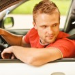 Driver of car looks back — Stock Photo #3763191