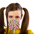 Girl with lollipop — Stockfoto
