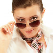 Young woman in sun glasses — Stock Photo