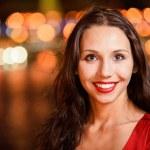 Evening portrait of beautiful woman — Stock Photo #3763995