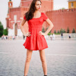 Young woman on Red Square. — Stock Photo