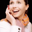 Smiling girl to call by phone — Stock Photo #3764293