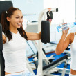 Girls in gym — Stock Photo