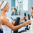Girls exercising in gym — Stock Photo