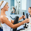 Stock Photo: Girls exercising in gym