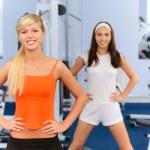 Two beautiful sportswomen — Stock Photo