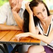 Quarrelled couple - Stock Photo
