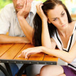 Quarrelled couple — Stock Photo