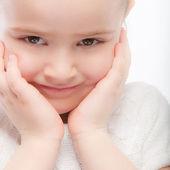 Schönes Lächeln Vorschule Kind hautnah — Stockfoto