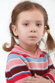 Offended preschool child — Stock Photo
