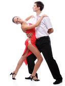 Young couple dances — Stock Photo