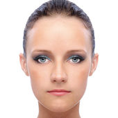 Face of young woman — Stock Photo