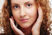 Portrait of beautiful curly girl — Stock Photo
