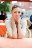 Retrato de muchacha encantadora — Foto de Stock