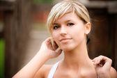 Portrait of lovely girl — Stock Photo