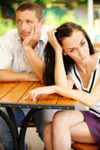 Quarrelled couple — Stock Photo