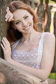 Portrait of young woman — Stock Photo