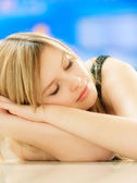 Charming girl sleeps — Stock Photo