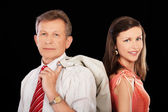 Senior businessman and girl — Stock Photo