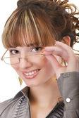 Girl in glasses — Stock Photo