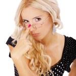 Девушка в очках — Стоковое фото