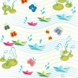 Childish background with paperships — Stock Vector #2779146