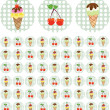 Bright color background with ice-cream — Stock Vector