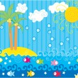 Royalty-Free Stock Vector Image: Vector funny sea landscape
