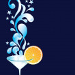 Vector cocktail with orange and splash — Stock Vector #2808508