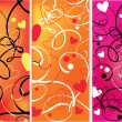 Stock Vector: Valentines abstract background