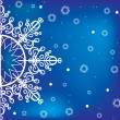 Blue winter background with snowflake — Imagen vectorial