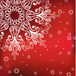 Stock Vector: Red winter background with snowflake