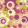 Stock Vector: Spring floral background