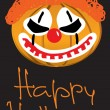 Clown - lantern, halloween illustration — Stock Vector