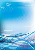 Blue tender background for your design — Stock Vector