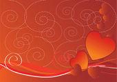 Valentines abstract background — Stockvektor