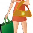 Attractive girl with shopping bags — Stock Vector #2833587