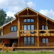 Big Wooden House - Stock Photo