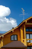 家の屋根のコーナー — ストック写真