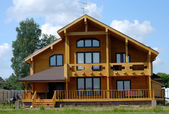 Big Wooden House — Stock Photo
