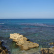 Ruins of harbor at Caesarea — Stock Photo #2703111