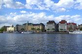 Stockholm`s dijk — Stockfoto