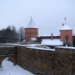 Stock Photo: Trakai castle in winter