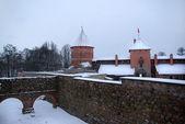 Trakai castle in winter — Stock Photo