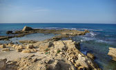 Ruins of harbor at Caesarea — Stock Photo