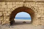 Ancient aqueduct — Stock Photo